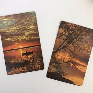Lady Baltimore Playing Cards Scenic Trees Fishing